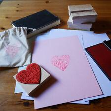 Stempel Holz gummiert Herz Motiv LOVE Deko-Stempel, Scrapbook, Hochzeits-Deko