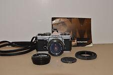 Olympus OM-1 35mm SLR Film Camera with F.Zuiko 50mm f/1.8 Lens, Works + extras