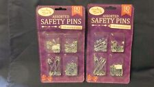 2 PACKS OF ASSORTED SAFETY PINS (160 PINS) 4 ASSORTED SIZES