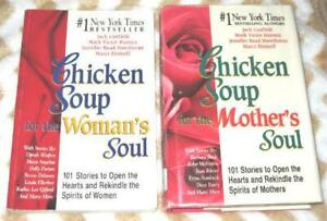 LOT of 2 Chicken Soup Mothers Womans Soul Canfield 1996 1997