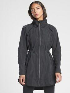 ATHLETA Drip Drop Jacket S Small | Black CYA Coat NEW