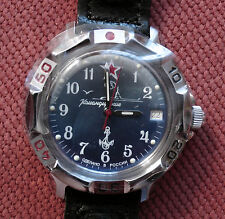 Wrist Mechanical Watch VOSTOK KOMANDIRSKIE Commander Military Submarine 811289