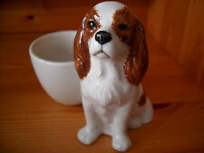 Quail Pottery Cavalier King Charles Spaniel With Egg Cup Ideal  Gift Boxed.