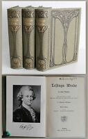 Lessings Werke 6 Bde in 3 um 1900 Weltliteratur Fabeln Lustspiele Komödie xz