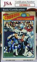 Roger Staubach 1977 Topps Jsa Coa Hand Signed Authentic Autograph