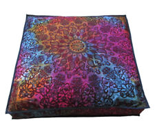 35X35 Square Floor Cushion Pillow Cover Multi Star Mandala Room Decorative Throw