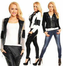Autumn Patternless Women's Biker Jackets