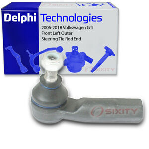 Delphi Front Left Outer Steering Tie Rod End for 2006-2018 Volkswagen GTI jc