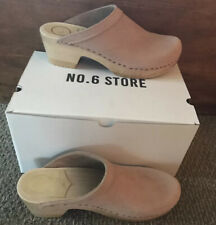 New No.6 Size 40/ 8.5-9 Pink Sand Suede Nubuck Mid Heel Clogs $290