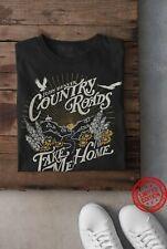 John Denver Country Roads Take Me Home T-Shirt, BLACK
