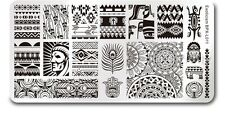 Nail Art Stamping Image Plate Exoticism Theme DIY Template Manicure BPX-L011