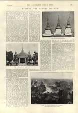 1893 la capitale Bangkok Siam Cappelli dello stato