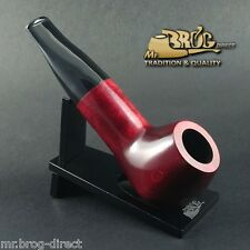 "Mr.Brog original smoking pipe nr. 34 red "" BULDOG "" HAND MADE - GREAT FOR GIFT"