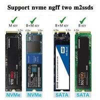 Externes USB-SSD-SSD-Gehäuse M.2 NVME PCIE SATA M / B-Schlüssel Case Mobile I7J8