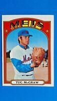 1972 Toops Tug McGraw New York Mets Baseball Card # 163