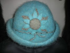Handmade Wool Felt Hat w/Beads   Hat Hautees   6502
