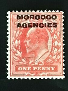 Morocco Agencies stamp EVII 1907 1d scarlet MH
