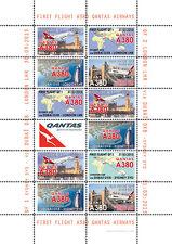 """VIGNETTES AERIENNES """"A380 Qantas Airways - 1er Vol Sydney-Dubaï-Londres"""" 2013"""