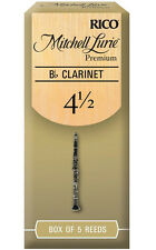 1 Box of 5 Rico Mitchell Lurie Premium Reeds for Bb Clarinet Strength 4-1/2(4.5)