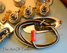 TAOT Strat®Basic Wiring Kit - CTS Pots,.022 Orange Drop Cap, Gavitt Cloth