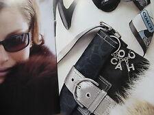 COACH SIGNATURE HOBO Classic BAG BLACK METALLIC FLAP OPTIC PYTHON Trim $320 NWT