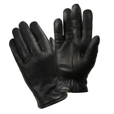 Cold Weather Insulated Leather Police Black Dress Tactical Gloves