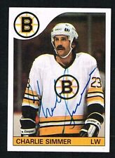 Charlie Simmer #87 signed autograph auto 1985-86 Topps Hockey Trading Card