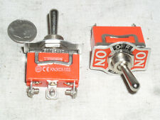 Two 2 Spdt On Off On Power Toggle Switch No Spring Action 15 A Amp 15a Usa Ship