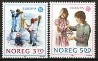 Norway 1989, Nk 1068-69, Europa Cept set VF MNH, Mi cat 4,5€