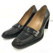 Gucci Heels Size UK5 EU38 8cm Lift Brown Leather Formal Vintage Classic 301486