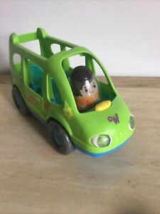 Weebles Playskool Green Van With 1 Figure - NO SOUNDS -push Along Vehicle Toy