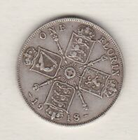 1918 GEORGE V SILVER FLORIN IN GOOD FINE CONDITION