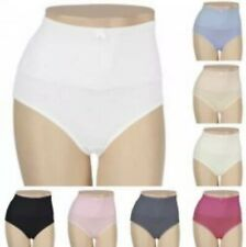CAROL WIOR QVC Lot Set of 6 BELLY BAND PANTIES Large New