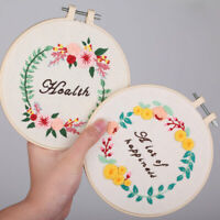 Handmade Embroidery Starter Kits Cross Stitch Floral Craft Sewing at Home