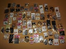COSTUME FASHION JEWELY LOT 74 PAIRS OF EARRINGS NEW
