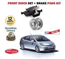 Pour Toyota Prius 1.5 i Vvti Hybride 2003-2009 nouveau front disques set + disque Pads Kit