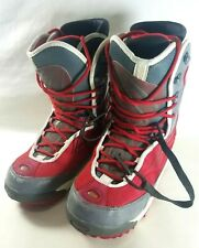 Red RIDE Snowboard Boots Mens Size 11 with Insulated Lines