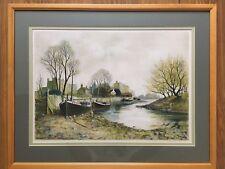 Jeremy King Artists Proof Hand Signed Print Vintage River Boat Scene Framed