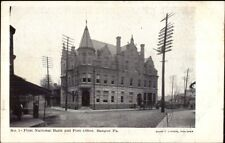 Bangor PA Bank & Post Office c1910 Postcard