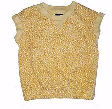 Gap Kids Girls Size 6-7 Yellow Leopard/Cheetah Short Sleeve Shirt