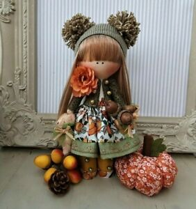 Rag doll handmade in the UK Tilda doll Ooak doll Art doll AUTUMN 8 inch tall