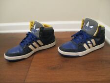 Used Worn Size 12 Adidas Hard Court Hi 2 Shoes Navy Bone White Yellow