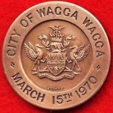 Wagga Wagga Centenary Local Government medallion medal March 15th 1970