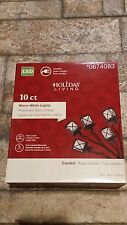 Holiday Living 10 ct Lantern LED Warm White Lights 5 yr Limited Warr. #0674083