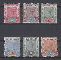 P130896/ BRITISH SEYCHELLES / SG # 2 / 3 – 9 – 12 / 14 MINT MH CV 178 $