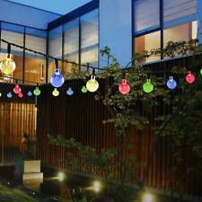 30 Multi LED Solar Powered Fairy String Lights Crystal Ball Garden X'mas Party