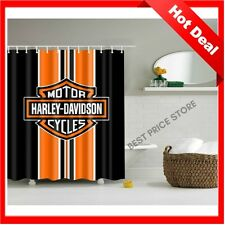 Bathroom vanities Curtain Harley Davidson Logo Pattern Waterproof With Hooks 71