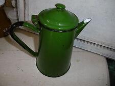 Vintage green enamel coffee pot, quite good condition