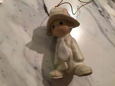 Vintage Precious Moments Ceramic Ornament Little Boy