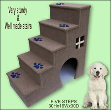 Luxury steps for dogs, Dogs furniture. 30 inches tall wooden dog.